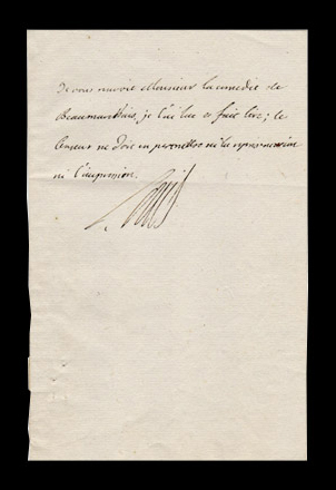 autographe letter signed by Louis XVI