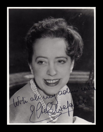 photograph signed by Schiaparelli